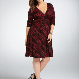 Torrid Abstract Faux Wrap Dress